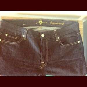 7 for all mankind kimmie crop jeans size 31